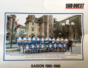 Photo équipe SUA Agen 1986