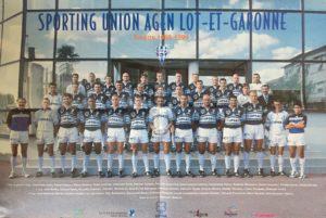 Photo équipe SUA Agen 1999